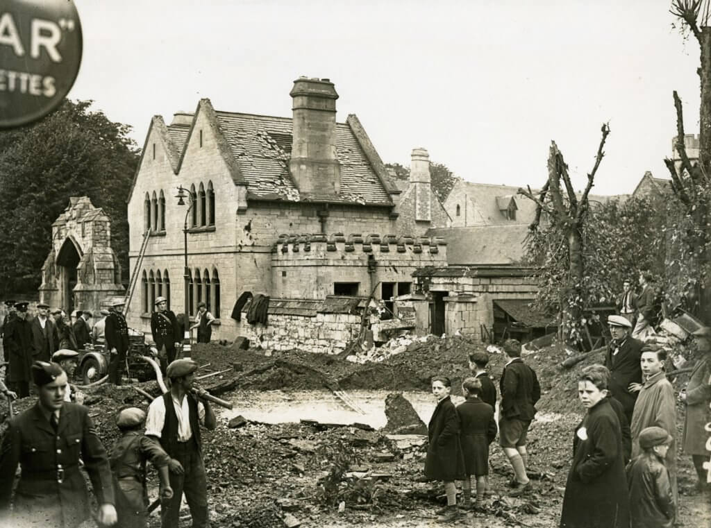 Bomb crater, Swindon Road