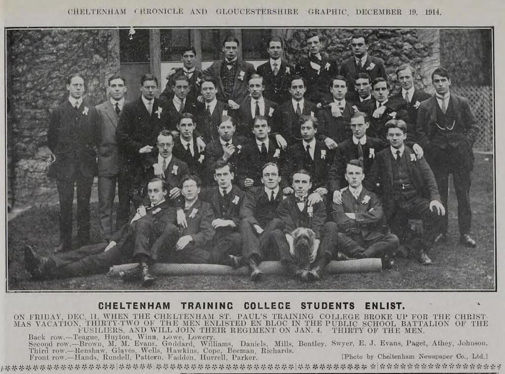 University of Gloucestershire World War 1