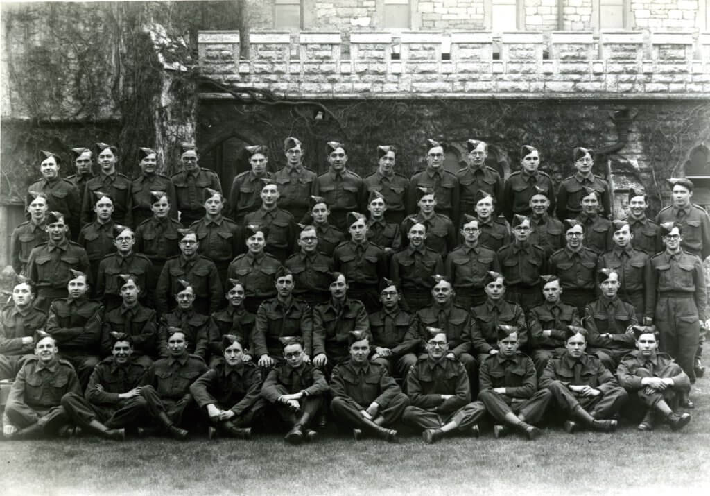 St Paul's students dressed in military uniform 1944