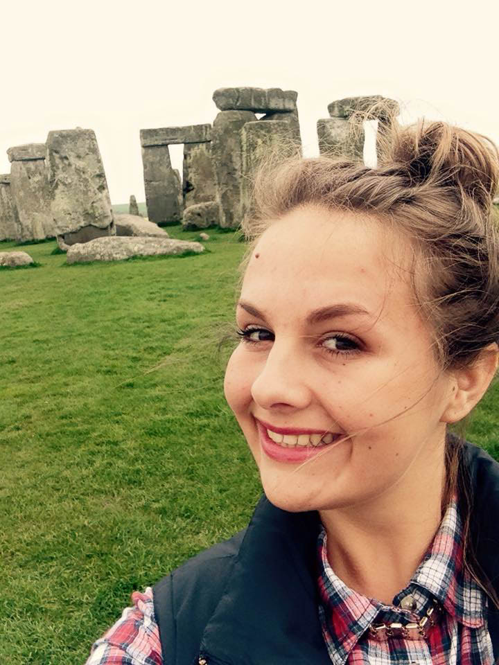 Kathryne the Showcasing History trip to Stonehenge in 2015