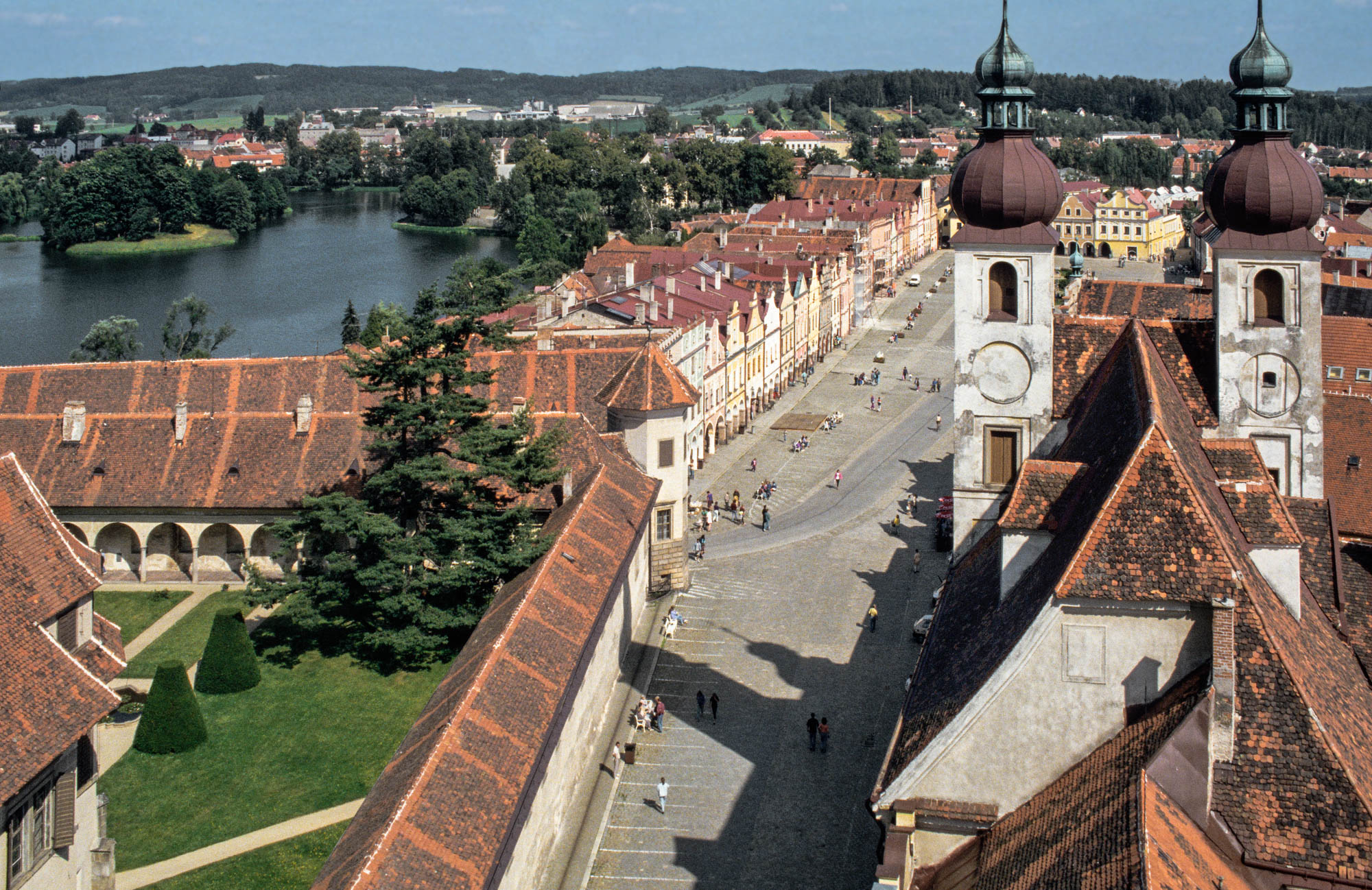 Telc from St James's Church tower
